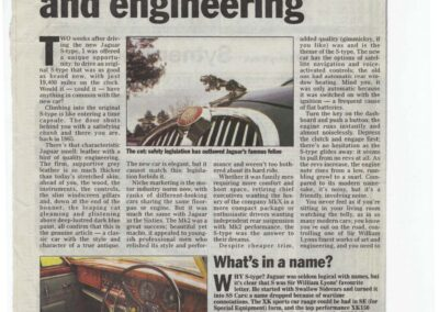 The Telegraph March 1999 – Jaguar S-Type supplied