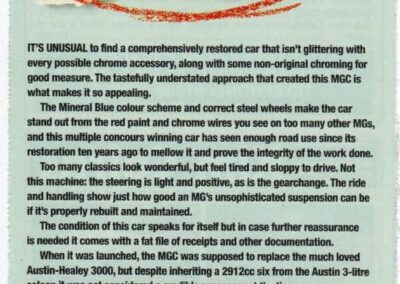 Classic Cars March 2000 – MGC Roadster