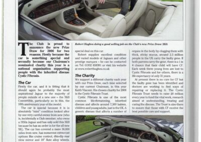 Jaguar Enthusiast March 2006 – Cystic Fibrosis Trust