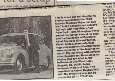 Irish Independent Circa 2001 – Daimler Majestic Major