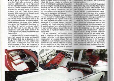 American Car World July 2007 – Ford Thunderbird supplied