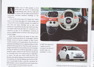 Article written by Robert Hughes – Fiat 500