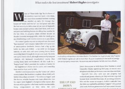 Article written by Robert Hughes – Car vs Property