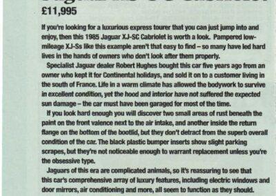 Classic Cars April 2000 – Jaguar XJ-SC Cabriolet