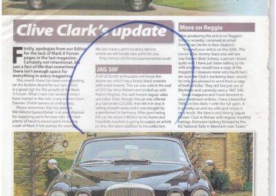 Jaguar Enthusiast July 2012 – Jaguar 420G supplied