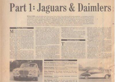Price Guide Circa 1989 – Jaguars & Daimlers