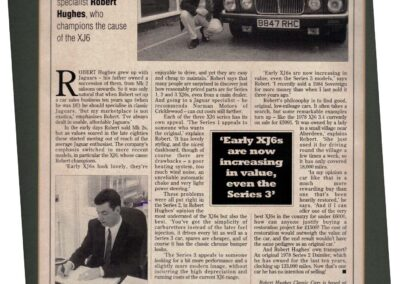Popular Classics June 1994 – Champion the cause of the XJ6
