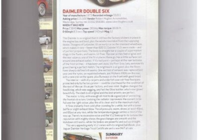 Classic & Sports Car May 2012 – Daimler Double Six supplied