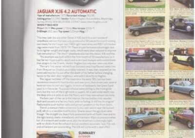 Classic & Sports Car July 2013 – Jaguar XJ6 4.2 Automatic supplied