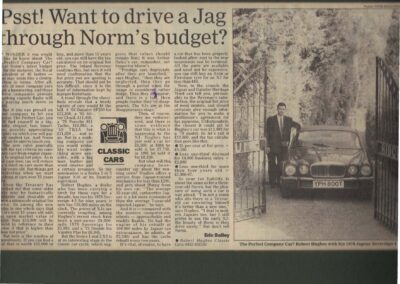 The Telegraph 1993 – Psst? Want to drive a Jag through Norm's budget?