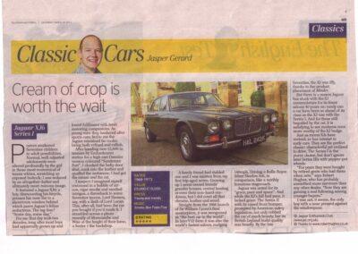 "Telegraph Motoring 2010: Jasper Gerard's ""classic guru"" for a series of weekly articles – Wolseley, Jaguar and Jensen were also supplied by RH"