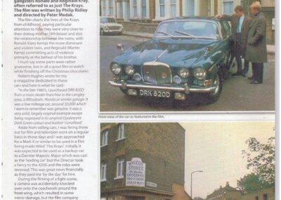 Our involvement with this car -Jaguar Enthusiast 2013 – The Krays Jaguar 420G