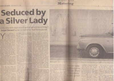 The Telegraph – Sunday Review  Circa 1995 – Rolls Royce supplied