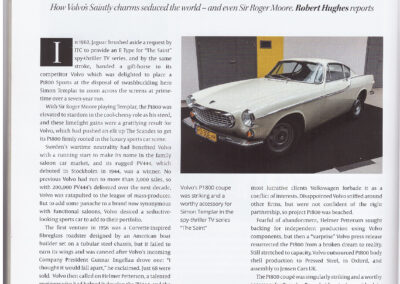 Article written by Robert Hughes – Volvo P1800